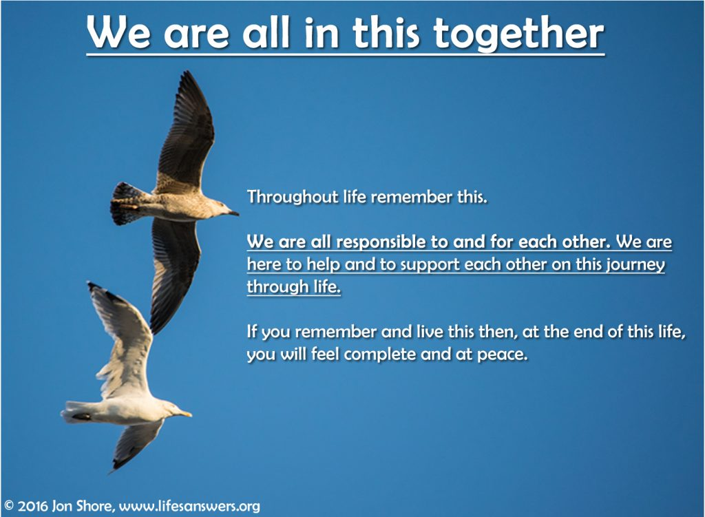 We are all in this together by Jon Shore