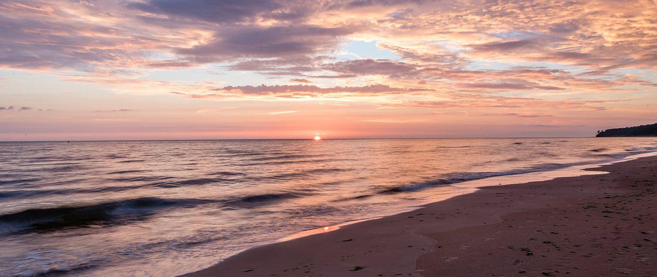 Sunset in Tuja, Latvia long exposure